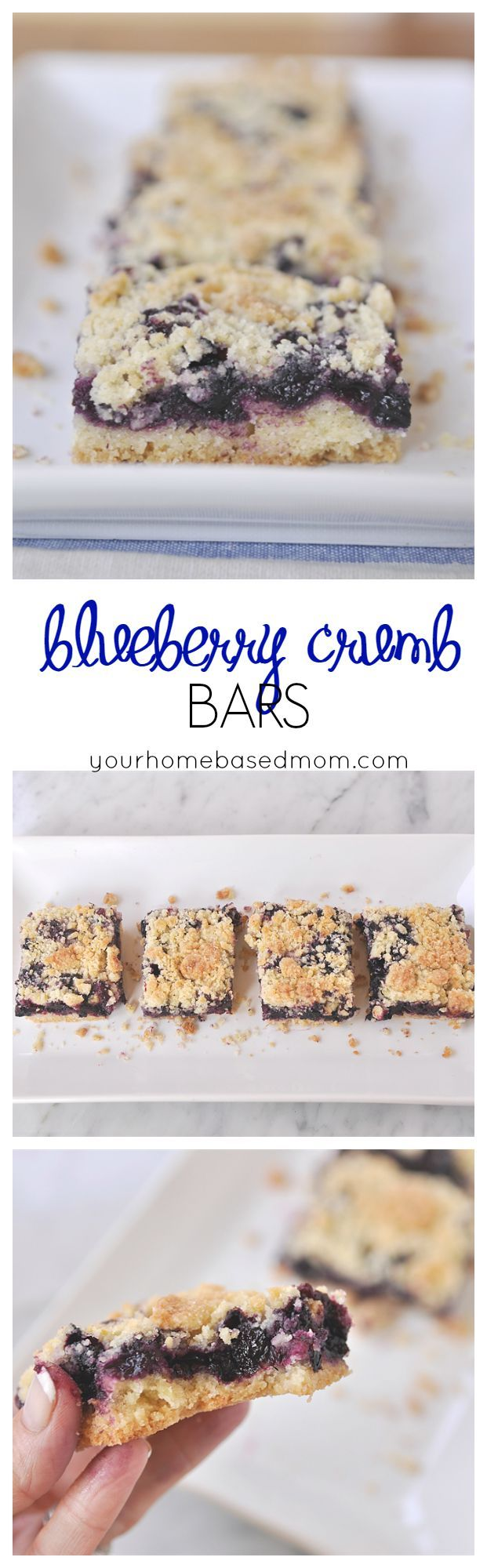 Blueberry Crumb Bars are a delicious layer of blueberries sandwiched between sugar and butter!