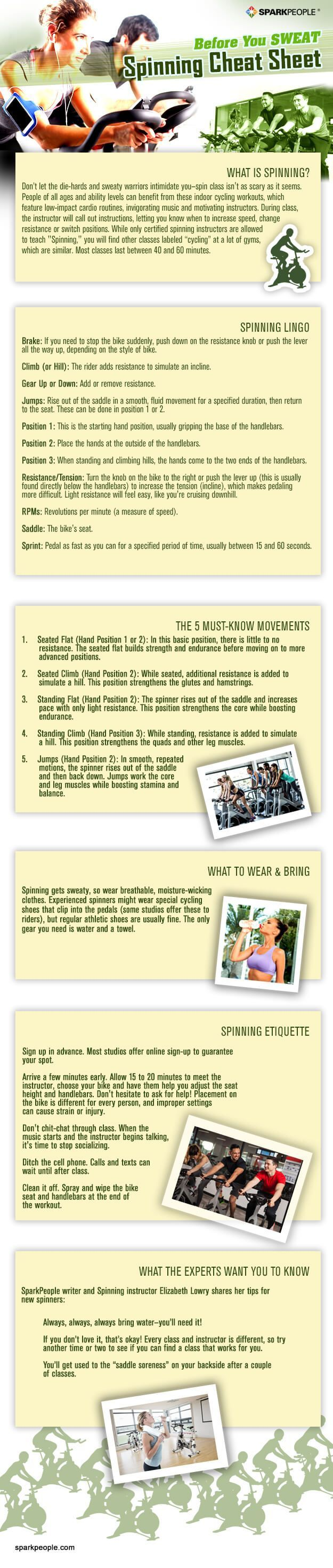 Thinking about trying an indoor cycling exercise class? Before you spin, review this handy guide to ensure a safe, effective workout.