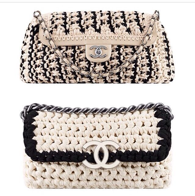 My crochet Chanel knockoff purse - Cynthia Luhrs