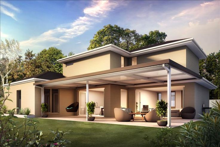 Attached Flat Roof Carports | LYSAGHTS Living - Adro Garages and Carports