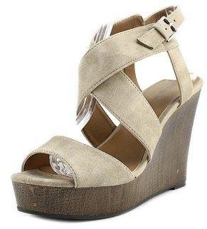 Indigo Rd Kamryn Women Open Toe Synthetic Gray Wedge Sandal.