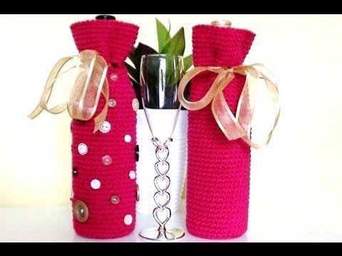 Crochet Wine Bottle Cover by Crochet Hooks You ~ free pattern