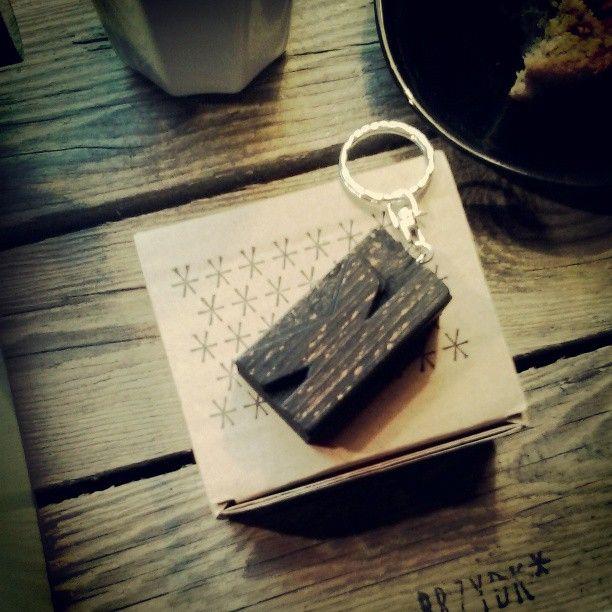 #letterpress #keychain #typography #jewelry #brzydko #vintage #wood #retro #accessories #box #cardboard