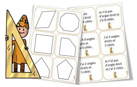 Jeu questions angles droits et polygones BDG