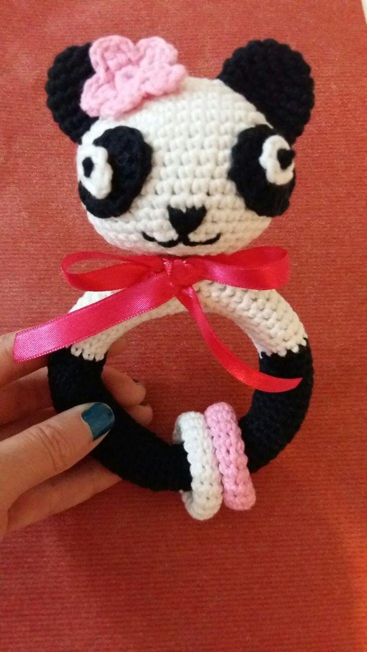 Amigurumi panda çıngırak