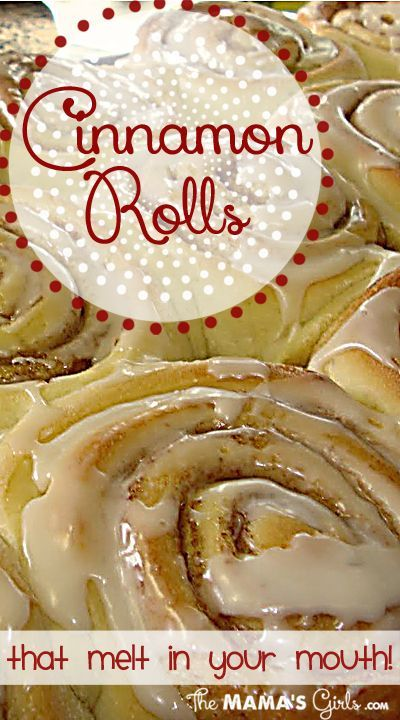 Cinnamon Rolls that melt in your mouth!  So good! This is now my go to recipe for the dough, so yummy and soft...and you can add to it to make them peanut butter rolls or apple pecan with caramel frosting...these are great!!~JW