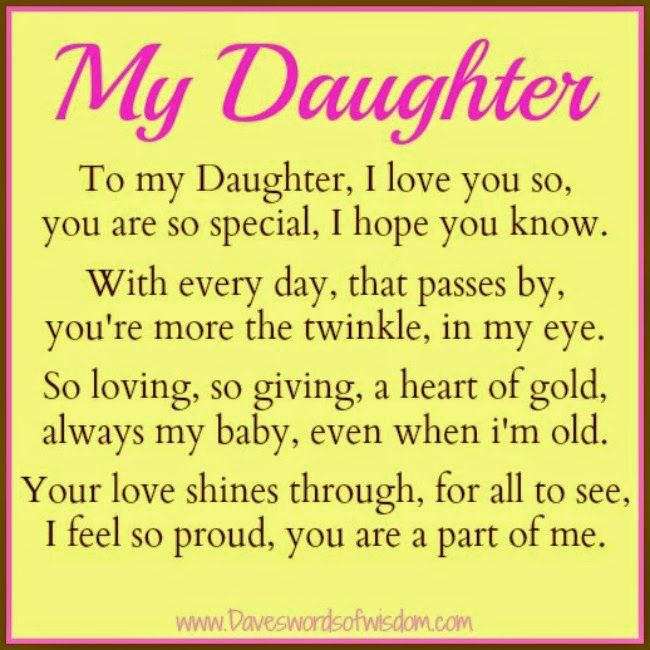 Wisdom To Inspire The Soul: The Daughter Poem.