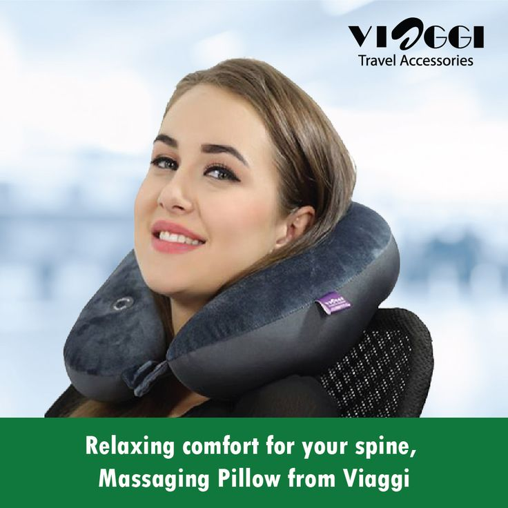 Travel in comfort with the vibrating neck massage pillow that gently massages your neck and shoulder.