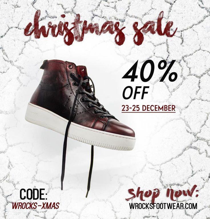 Christmas Sale ! 🎁🎅🏼🎄 40% OFF --> Use the code: WROCKS-XMAS at www.wrocksfootwear.com ✨ #washedrocks #wrocksfootwear #christmas #xmas #holidays #gifts #suprise #santatellme  #footwear #shoes #boots #oxfords #oxfordshoes #sneakers #sneakersfreak #instafashion #picoftheday #photooftheday