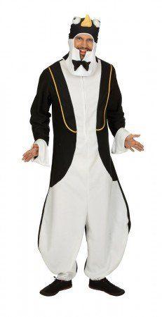 Ein Kostüm wie dieses sieht man nicht alle Tage! Das Pinguin-Kostüm in Form eines Overalls ist eine kreative Verkleidung für kühle Karnevalstage!