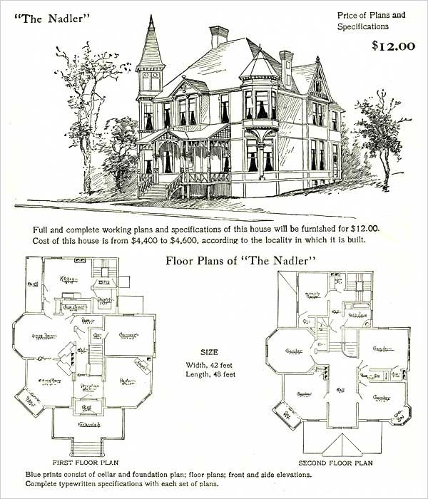 1905 hodgson nadler landscape victorian ladies for Queen anne style house plans