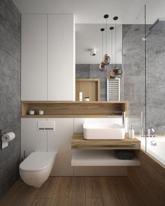 37 Beauty Simple Modern Bathroom Decorating Ideas To Inspire You Modern Bathroom Decor Bathrooms Remodel Bathroom Design Small