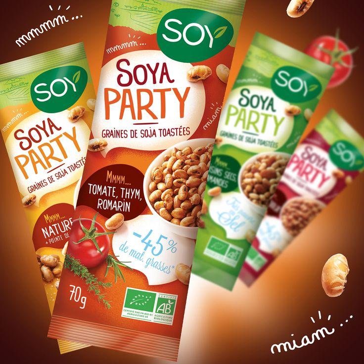 Petits sachets de graines de soja toastées pour l'apéritif - Conçu par Change Design à Pau