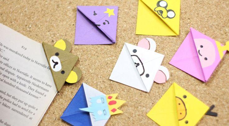 manualidad-de-papel-separador-origami-kawaii