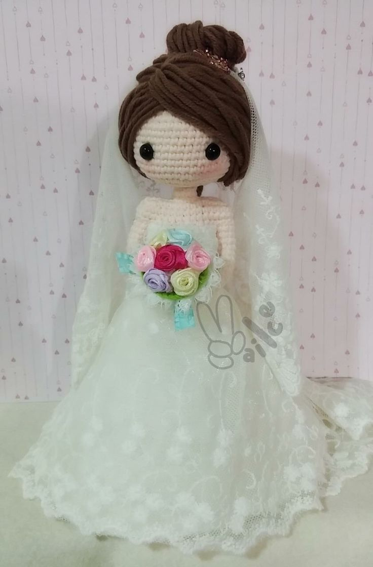 Amigurumi bride doll. (Inspiration).
