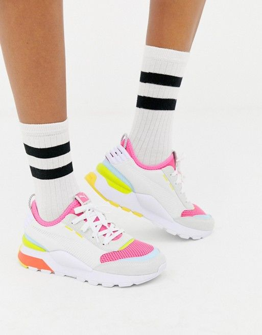 c8c345f32e2 Puma Rs-0 Winter Toys white sneakers in 2019 | Cute shoes | White ...