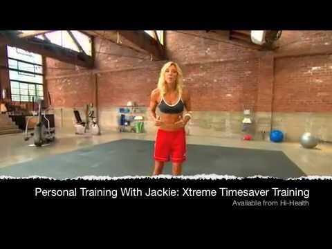Jackie Warner Xtreme Timesaver Training DVD Introduction Video: You don't need hours in the gym to get the body you've always wanted. Jackie has designed a highly-effective, complete head-to-toe circuit workout that's just 30 minutes.     Wondering how that's possible? By using compound moves to train multiple muscle groups at one time, Jackie has cut your workout time in half. This is Xtreme Efficiency!