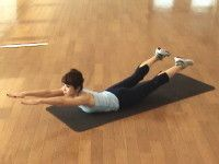 背筋・腰周りストレッチ・エクササイズ手順1