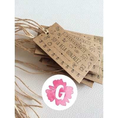 Invitaciones Tarjetas Casamiento Papel Madera Kraft Blonda - $ 17,00