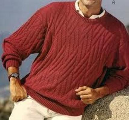 Как визать красные мужские свитера