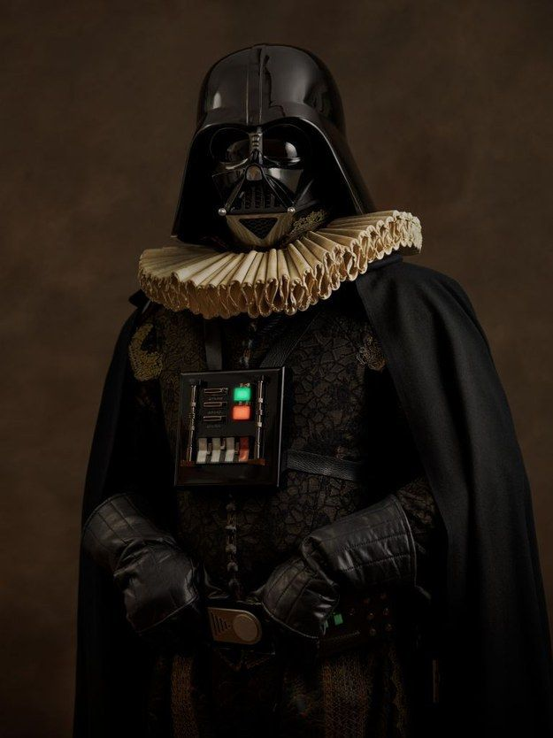 And it's not just superheroes, Goldberger's series also includes iconic Star Wars characters.   If Superheroes Were From The Elizabethan Age