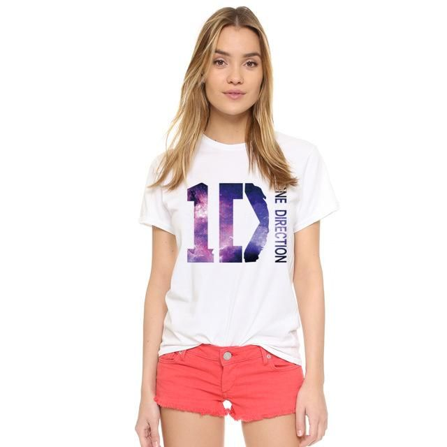 EAST KNITTING H683 2017 Summer Hipster Brand Women T Shirt Couple Clothes White O Neck T-Shirt ONE DIRECTION Printed Punk Tees