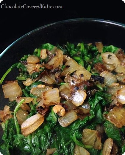 How to Cook Kale: the easy way! I added lemon juice, strips of ginger, and tomatoes and it was wonderful!