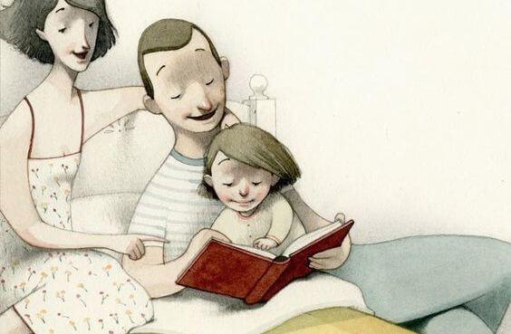 Los niños se convierten en grandes lectores en el regazo de sus padres. Sirve de ejemplo y procura que se duerman con un libro, no viendo la televisión.