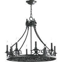 Quorum 6093-8-50 Lorenco 8 Light 28 inch Spanish Silver Chandelier Ceiling Light photo thumbnail