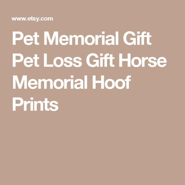 Pet Memorial Gift Pet Loss Gift Horse Memorial Hoof Prints