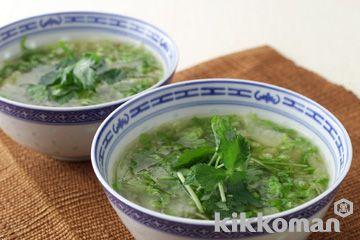 白菜とザーサイのスープ