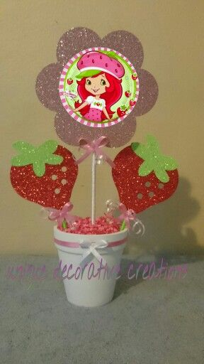 Strawberry shortcake centerpiece