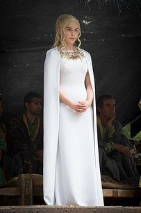 Daenerys Targaryen has been rocking the cape dresses on this season of Game Of Thrones - and now you can too. | 21 Gorgeous Cape Dresses To Help You Channel Your Inner Khaleesi