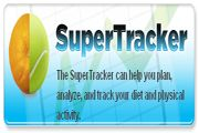 """Contains simple fat, fruit and veggie screeners.  An """"assess your diet"""", the super tracker, and a healthy body calculator"""