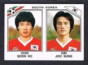 Panini-Mexico-86-Copa-Mundial-de-la-etiqueta-engomada-98-C-pronto-Ho-K-Joo-Sung-Corea-del-Sur