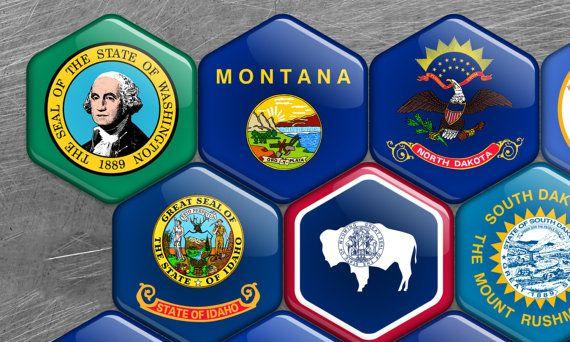 Aimant de r/éfrig/érateur Usa fridge magnet Seal Of Colorado