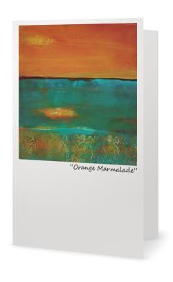 """Orange Marmalade""5X7"" Blank inside. Created from an original painting by Patt Scrivener, AFCA"