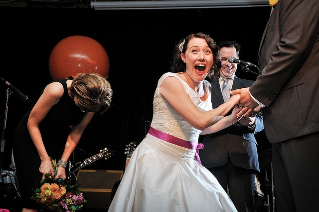 Jessica and Peter's spectacular carnival-themed wedding at The Gladstone Hotel, photos by Gail at Large