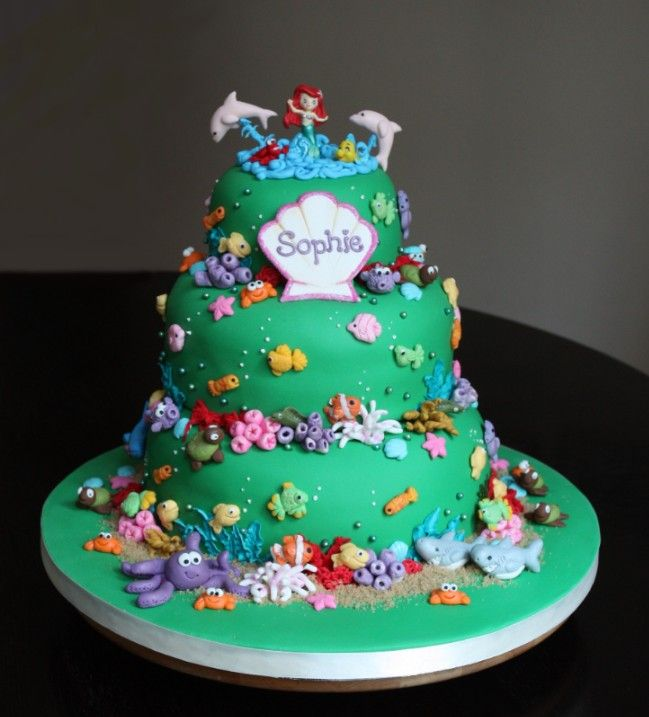 79 best images about cake decorating ideas on pinterest for Ariel cake decoration