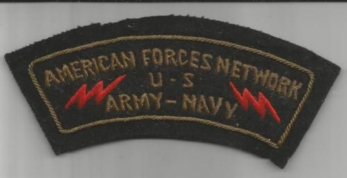WW 2 American Forces Network U S ARMY NAVY Bullion Patch Inv# H876