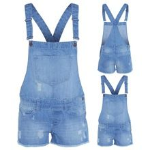 NEW WOMEN'S LADIES DENIM DUNGAREE SHORTS DRESS JUMPSUIT SIZE 8 10 12 14 16 Best Seller follow this link http://shopingayo.space