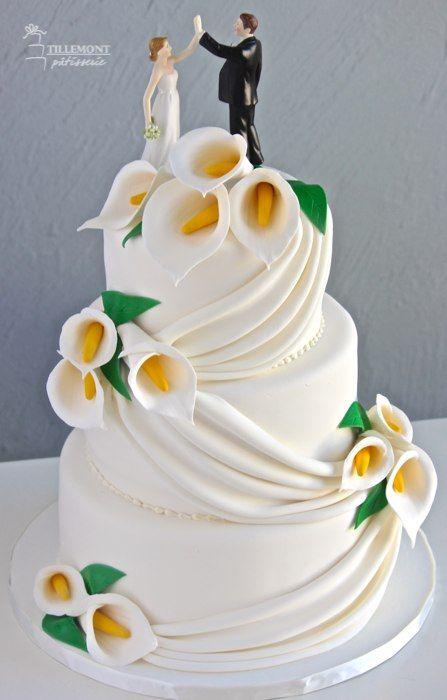 Allez voir cette image sur Pâtisserie Tillemont gâteau de mariage lys cala