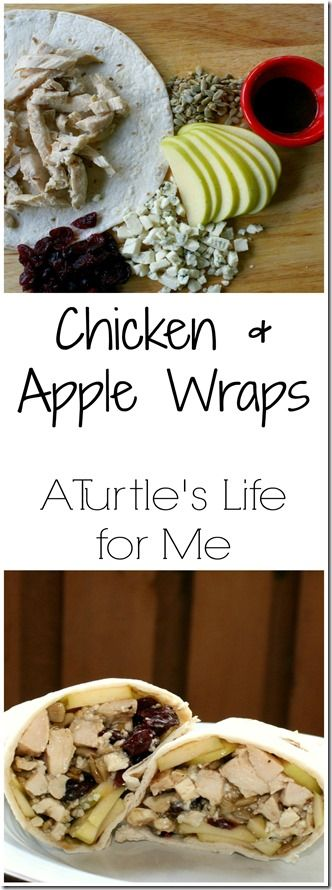 Chicken & Apple Wraps from A Turtle's Life for Me