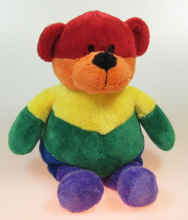 Rainbow Teddy Bear Teddy Bear Bear Dinosaur Stuffed Animal