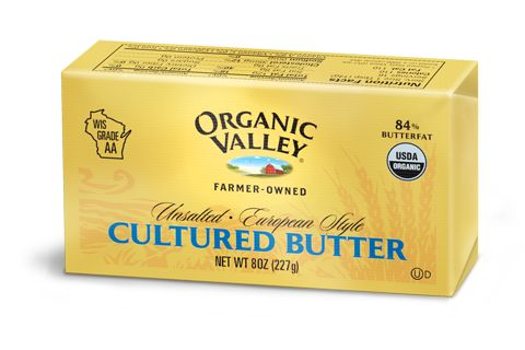 European Style Cultured Butter, 8 oz. Better for you than margarine.