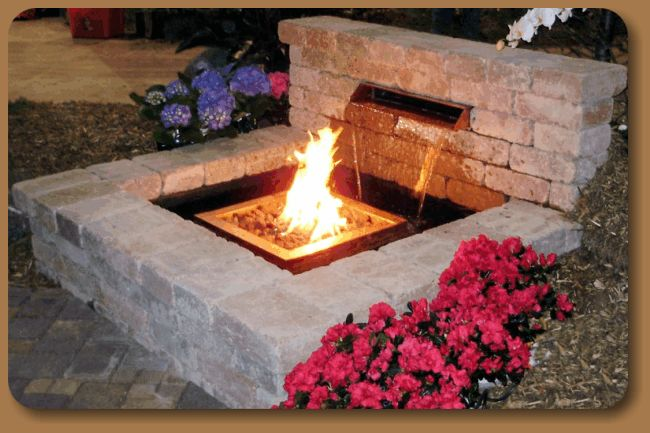 Fire And Water Feature Outdoor Fire And Water Outdoor