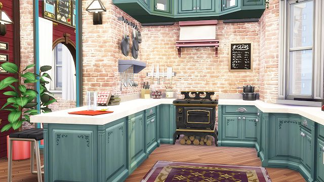Sims 4 CC's - The Best: Boho Classic Apartment : 20 Culpepper House by sim...