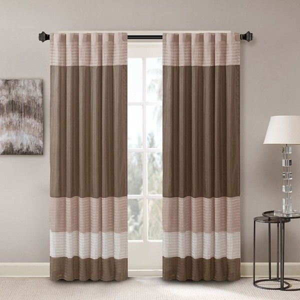 Give your window a makeover with this Madison Park Infinity curtain.  Features 50'' x 84'' Color block design Pintuck detailing Rod pocket or back tabs Fits up…