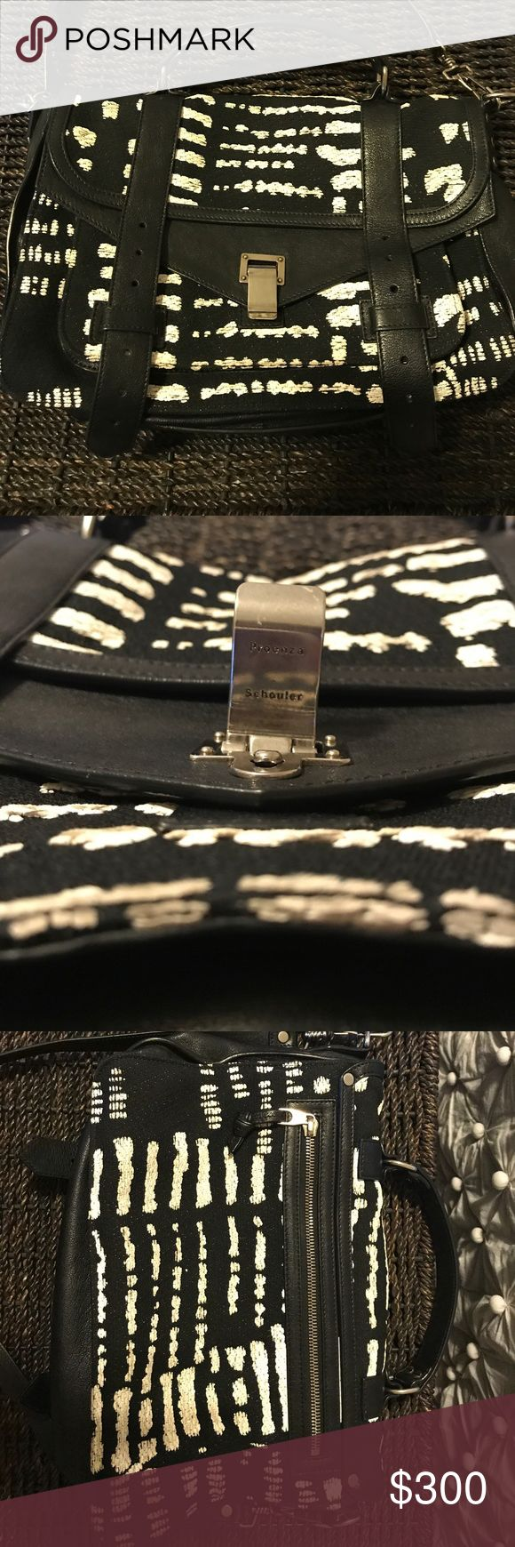Proenza Schouler Ps1 Tiny Tweed Black/White Proenza Schouler Ps1 In Black And White Tweed Fabric And Black Leather. Bag Is In amazing condition!  Comes with duster. Proenza Schouler Bags Shoulder Bags