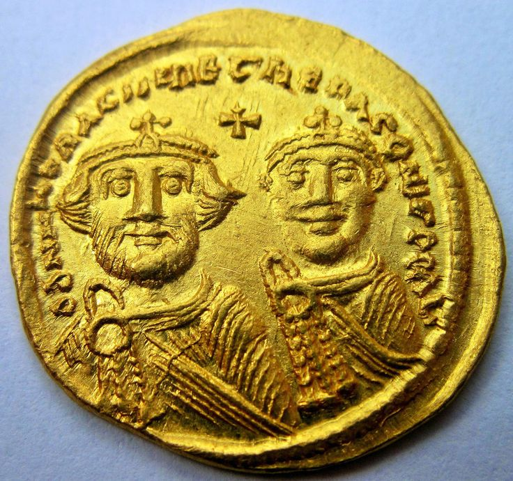 Exceptional Heraclius & Heraclius Constantine Gold Solidus - Byzantine coin